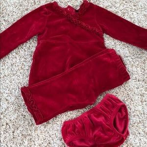 Children's Place Velour Matching Baby Outfit